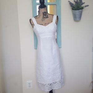 Lilly Pulitzer White Eyelet Ruffle Scallop Dress